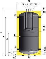 Бак накопительный ББ(160)-1000 без теплообменника