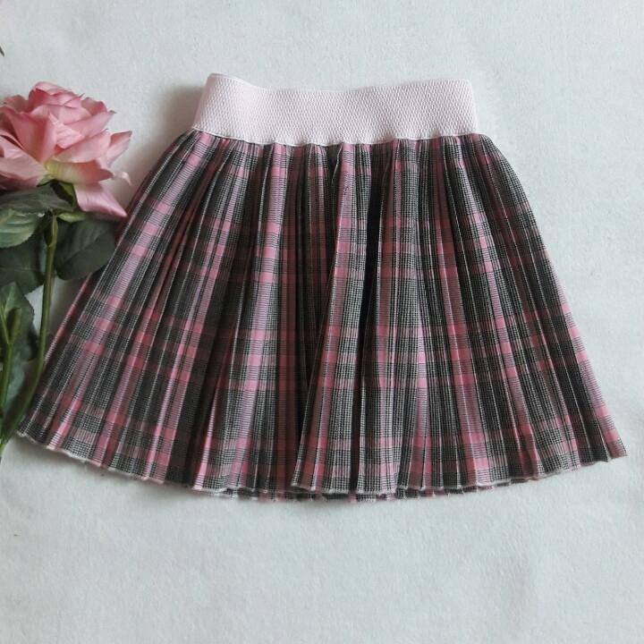 Красивая плиссированная  юбка для девочки 104-122.