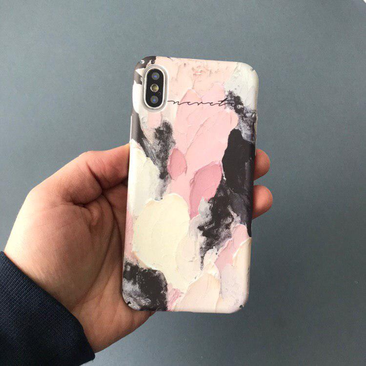 "Чехол ""Краски розовые"" для айфон"