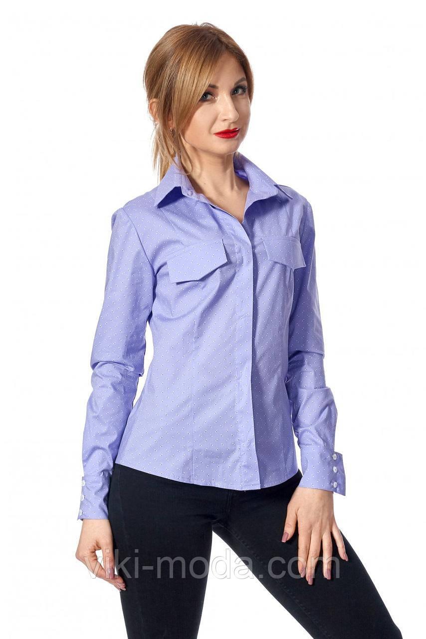 Женская рубашка из коттона, полуприлегающего силуэта, красивого цвета