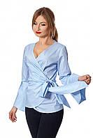 Женская рубашка-кимоно, голубого цвета