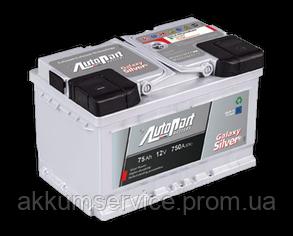 Акумулятор автомобільний Autopart Silver 75AH R+ 750А
