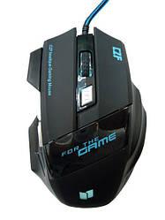 Игровая мышь проводная Gaming mouse LED Спартак G-509-7 5180, черная