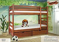"""Кровать двухъярусная с ящиками """"Кенгуру"""", дерево ( Мебель-Сервис )"""