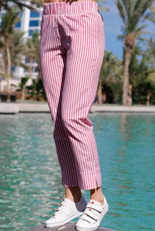 Недорогие летние брюки Паула красный