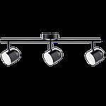 Спотовий світлодіодний світильник (бра) MAXUS MSL-01C 3x4W 4100K Чорний, фото 2