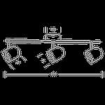 Спотовий світлодіодний світильник (бра) MAXUS MSL-01C 3x4W 4100K Чорний, фото 3