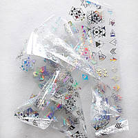 Переводная голографическая фольга для дизайна ногтей (фольга для литья) 1 метр