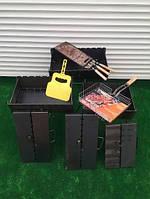 Мангал-валізу на 8 шампурів складаний-2 мм, дворівневий ( щільні стінки, якісна сталь) Докладніше: https://lovi-smelo.com/p938095482-mangal-chemodan-shampurov.html
