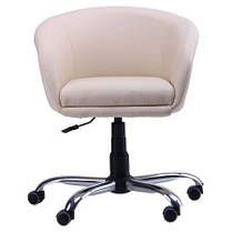 Кресло Дамкар Хром Неаполь N-17 на роликах (AMF-ТМ), фото 2