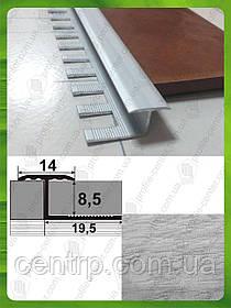 Гибкий Т-образный профиль для плитки АПЗГ 14 (14 мм) L - 2,5 м Дуб серый (краш)