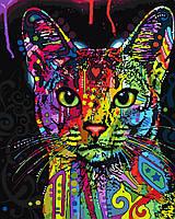 Картина по номерам Абиссинскя кошка (PGX9868) 40 х 50 см Brushme Premium
