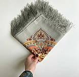Аврора 1841-2, павлопосадский вовняну хустку з шовковою бахромою, фото 6