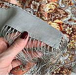Аврора 1841-2, павлопосадский вовняну хустку з шовковою бахромою, фото 5