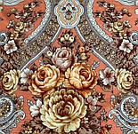 Аврора 1841-2, павлопосадский вовняну хустку з шовковою бахромою, фото 4