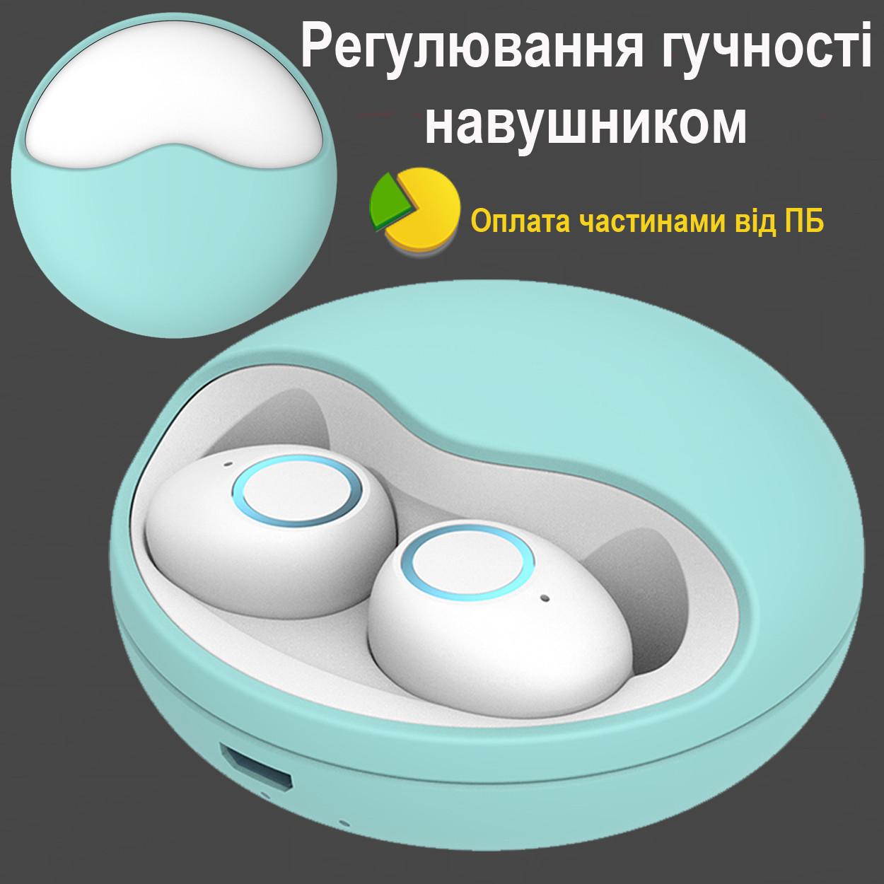 Бездротові Bluetooth-навушники безпровідні із зарядним чохлом-кейсом Wi-pods К10 Bluetooth 5.0. М'ятні.