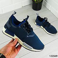 """Кроссовки женские, синие в стиле """"Adidas"""" текстильные, сникерсы женские, мокасины женские, повседневная обувь"""
