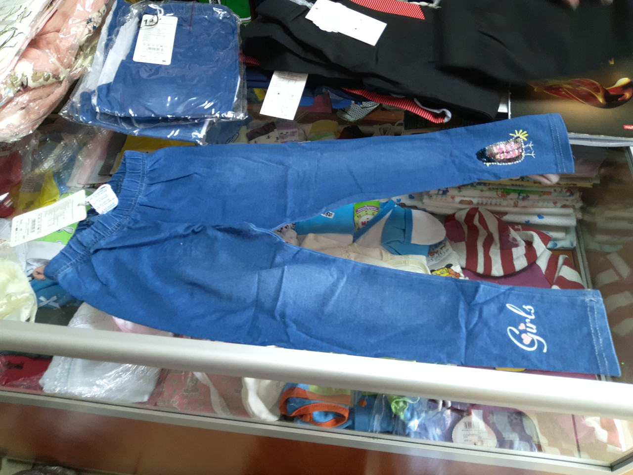 Лосины джинсовые для девочки р.92-122