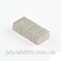 Неодимовий магніт прямокутник 10х5х1 мм