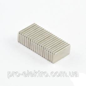 Неодимовый магнит прямоугольник 10х5х1 мм