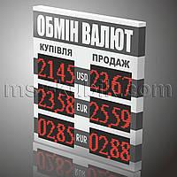 Табло обмен валют 850х850 одностороннее