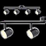Спотовый светодиодный светильник (бра) MAXUS MSL-01C 4x4W 4100K Черный, фото 2