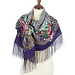 Секрет успеха 1635-13, павлопосадский платок шерстяной (двуниточная шерсть) с шелковой бахромой, фото 3