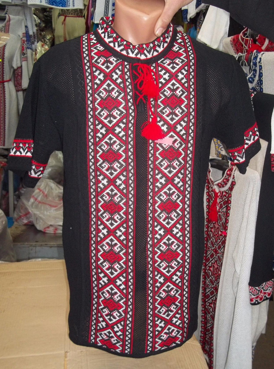 Мужская вышиванка вязанная