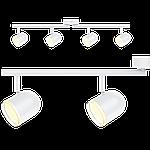 Спотовый светодиодный светильник (бра) MAXUS MSL-01C 4x4W 4100K Белый, фото 2