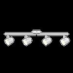 Спотовый светодиодный светильник (бра) MAXUS MSL-01C 4x4W 4100K Белый, фото 3