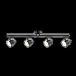 Спотовый светодиодный светильник (бра) MAXUS MSL-01C 4x4W 4100K Черный, фото 3