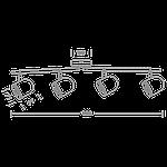 Спотовый светодиодный светильник (бра) MAXUS MSL-01C 4x4W 4100K Черный, фото 4
