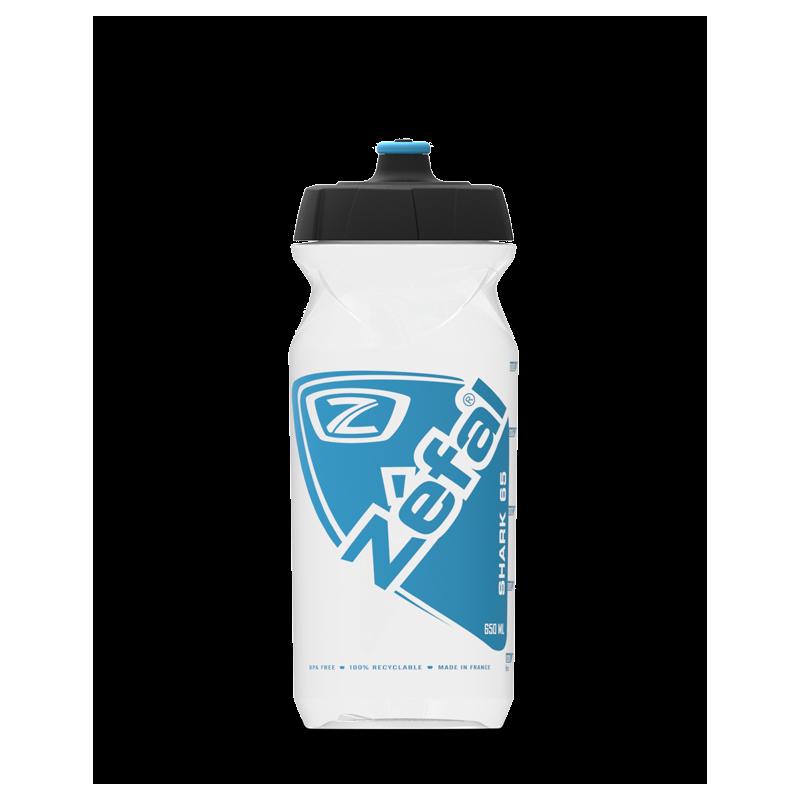 Фляга Zefal Shark 65 (1530B) 650мл пласт. цвет прозрачный с синим, 10шт.