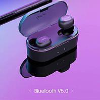 Беспроводные Bluetooth наушники QCY T2C/T1S TWS (Черный) с микрофоном