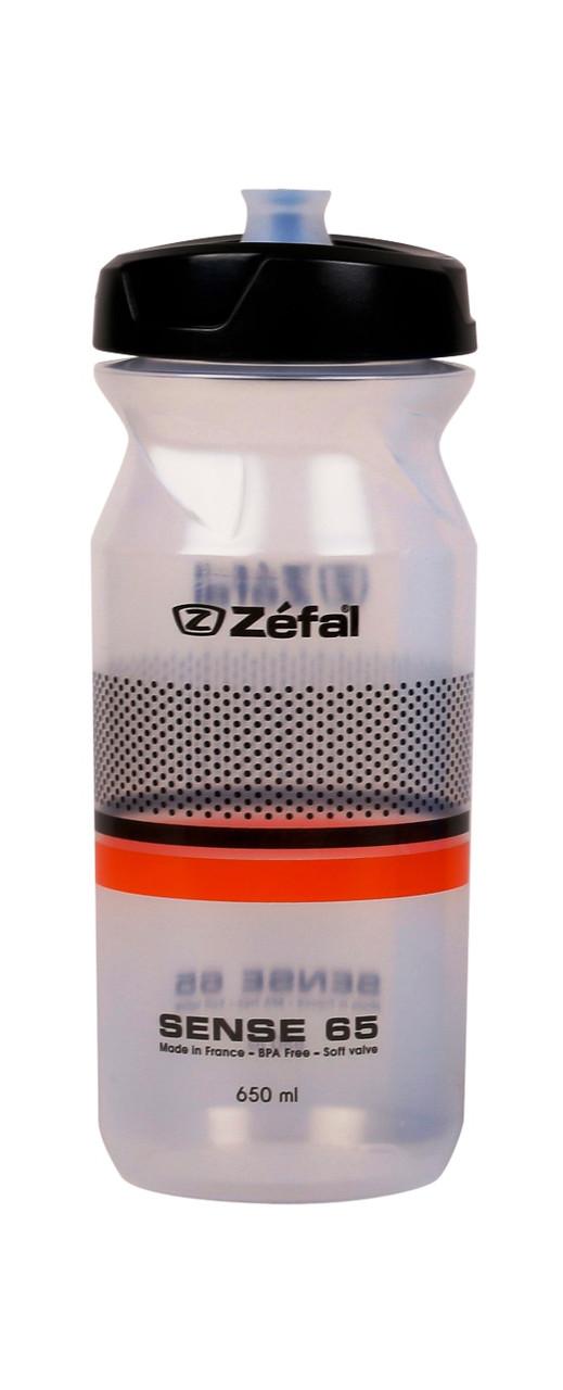 Фляга Zefal Sense M65 (155H) 650мл пласт., резьб. крышка Soft-Cap System, прозр.