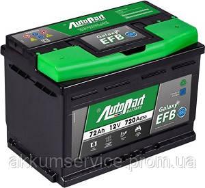 Аккумулятор автомобильный Autopart EFB 72AH R+ 720А Start-Stop