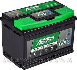 Акумулятор автомобільний Autopart EFB 72AH R+ 720А Start-Stop