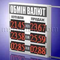 Табло обмен валют 850х850 двустороннее