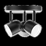 Спотовий світлодіодний світильник (бра) MAXUS MSL-01R 3x4W 4100K Чорний, фото 2