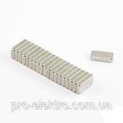 Неодимовий магніт прямокутник 10х5х2 мм