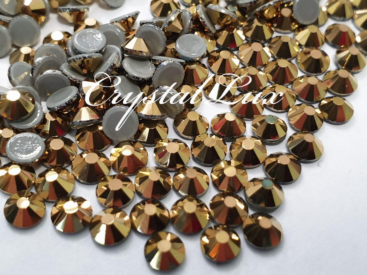 "Термо-стразы ss16 Gold, 100шт, (3,8-4,0мм) ""Crystal Premium"""