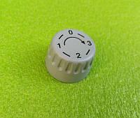 Ручка серая №5 пластиковая для переключателей мощности, таймеров, терморегуляторов (0-3)   Турция, фото 1