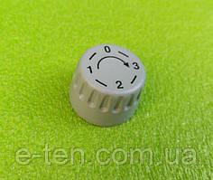 Ручка сіра №5 пластикова для перемикачів потужності, таймерів, терморегуляторів (0-3) Туреччина