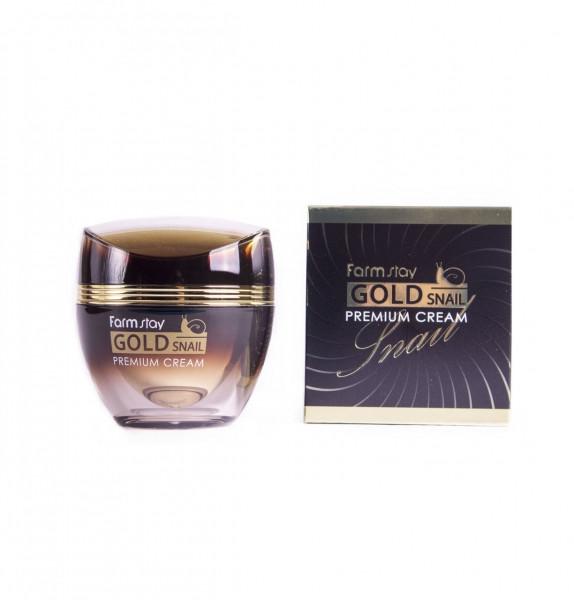 Премиум-крем с золотом и муцином улитки FARMSTAY Gold Snail Premium Cream, 50 мл