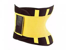 Пояс для похудения Hot Shapers Belt Power на липучке желтый, размер L