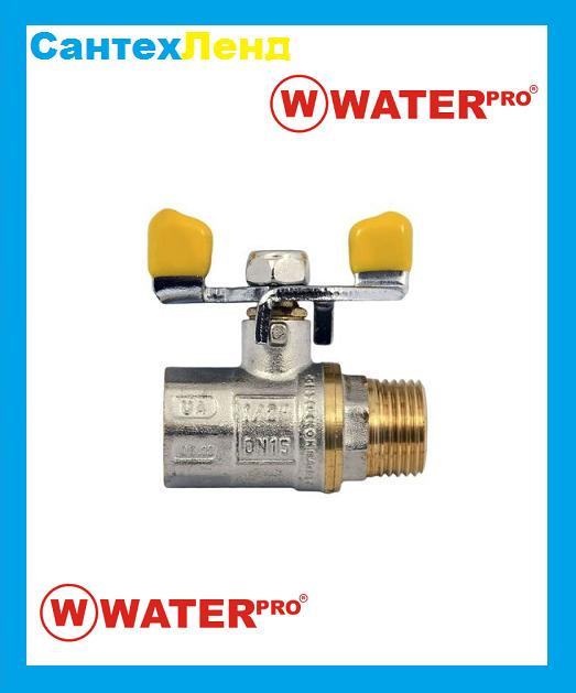 Кран Шаровой Газовый 1/2 Water Pro DN 15 PN 20 ГШБ