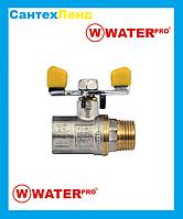 Кран Шаровой Газовый 1/2 Water Pro DN 15 PN 20 ГШБ, фото 1