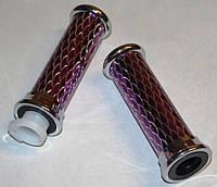 Ручки руля алюминиевые малиновые