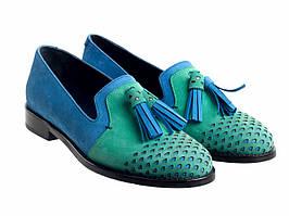 Лоферы Etor 5411-525-4439 сине-зелёные
