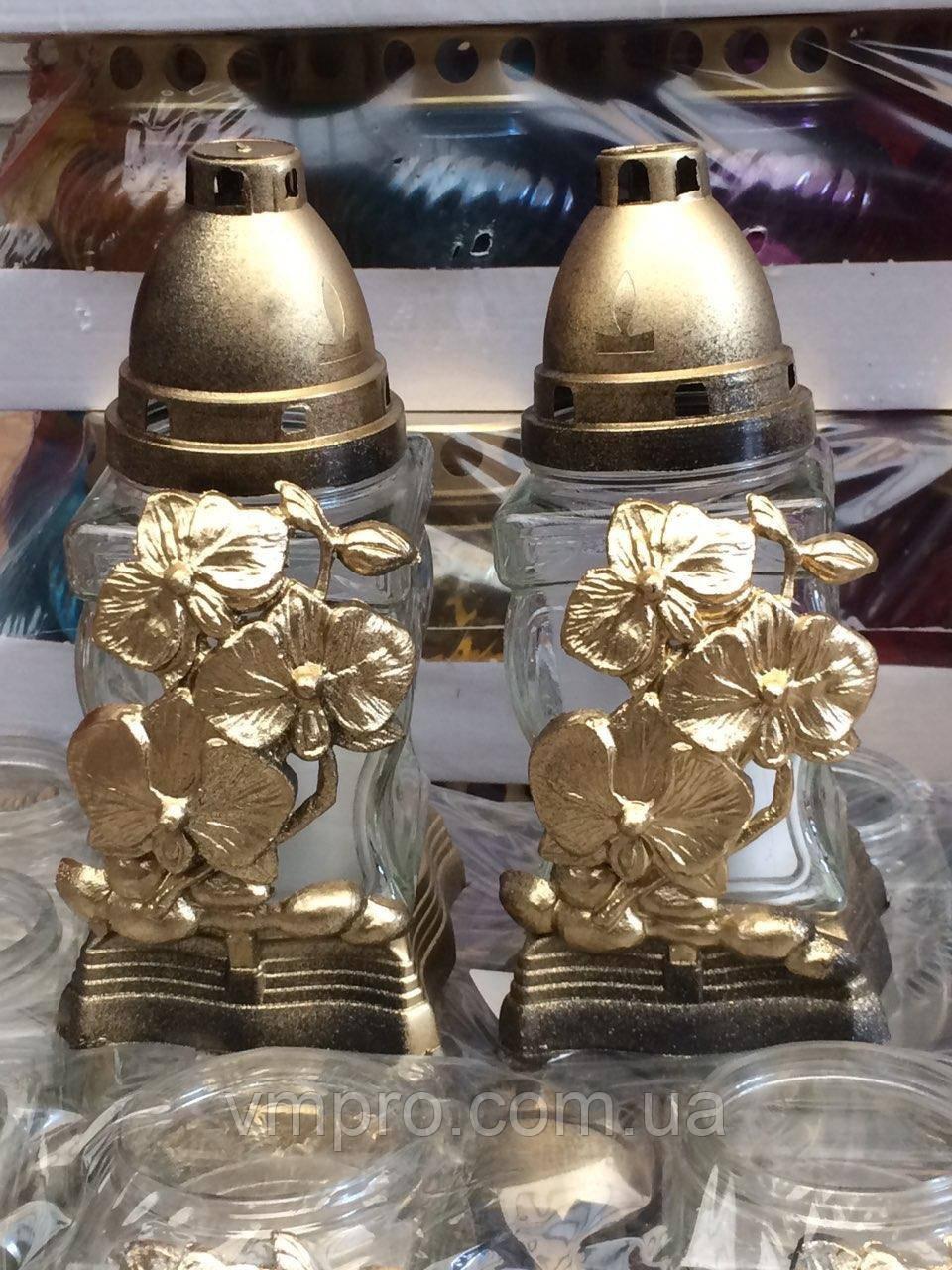 Лампадки Пасхальные с декором, стеклянный корпус